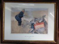 "FRAMED CARTOON PRINT AFTER LAWSON WOOD - ""YOUR NAME AND ADDRESS PLEASE"""