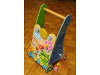 Big Jigs wooden baby activity walker