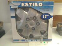 "Set of four 15"" ESTILO wheel trims."