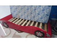 Single Bed for kids ( no mattress ) Car shape ( Wooden)