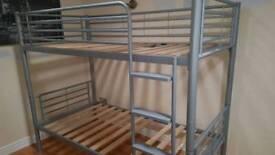 Silver metal dreams bunk bed or 2 singles