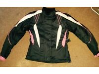 Women pink motorbike jacket