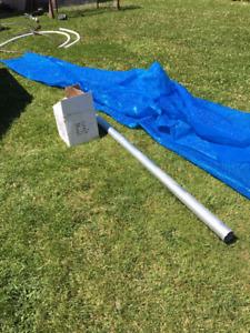Toile solaire 15 pieds avec rouleau
