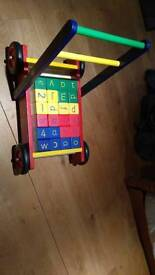 Baby Walker (with ABC blocks)