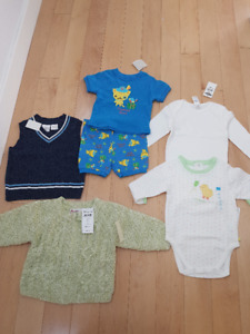 Lot of Brand New Boys Clothes - Size 6-12 mos