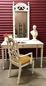 Desk mirror and arm chair