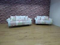 DFS DOLL PATCHWORK 2 X 3 SEATER SOFAS CAN DELIVER