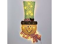 Light Up Hessian Snowman. Christmas Decorations for Sale