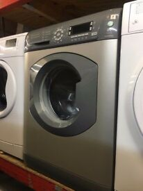 HOTPOINT 8KG SILVER WASHING MACHINE RECONDITIONED