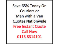 Man with a Van or Courier Southampton - Discount Prices Save 65% on your next delivery
