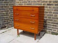 FREE DELIVERY Mid Century Chest Of Drawers Retro Vintage Furniture