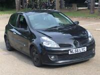2007 RENAULT CLIO DYNAMIQUE S 1.4 BLACK LOW MILES DRIVES GOOD BLACK WHEELS AUX NEEDS MINOR TLC
