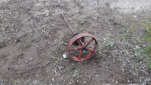 Old Cast Wheel Yard Art / Or Other uses ?