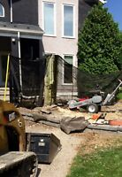 Stump grinding also have skid steer for mulch removal