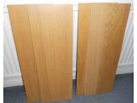 Extra Shelves for 80cm Ikea Billy Bookcase - Oak £5 each, Black £3 each