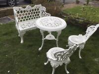 Cast iron bench set