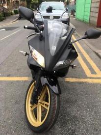 Yamaha yzf r125, daelim daystar 125, wk moto worx 125 no honda cbr cbf