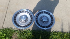 Two Authentic Ford F150 hub caps