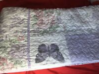 Pretty double bed cover