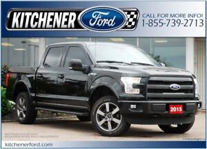 2015 Ford F-150 LARIAT/4WD/LEATHER/NAVI/CAMERA/TOW PKG/RMT START