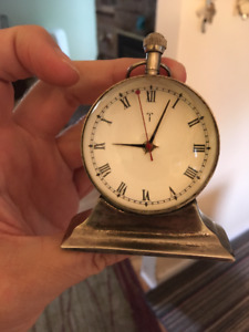 """Rare Vintage Art Deco Glass Orb Clock """"King's India Movt"""" 1930s"""
