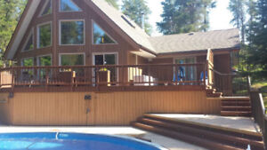 Executive Cottage with 32' Stamped Concrete Pool