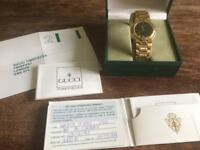 Vintage Gucci 9200m gold plated gentlemans watch 1995