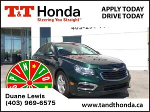 2015 Chevrolet Cruze LT 2LT *Low KM's, No Accidents, One Owner