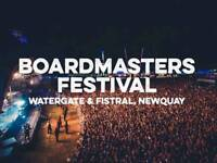 Boardmasters festival 2017 camping and day tickets available,