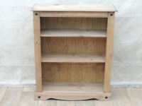 Bookshelf Medium with 2 shelves solid wood (Delivery)