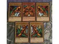 Collection of yugioh cards