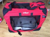 Red Pet transport box size S