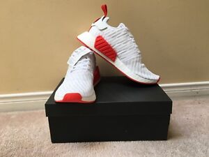 Adidas NMD R2 size 10 white/red