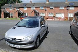 Immaculate Silver Peugeot 206 Diesel For Sale - £600 ONO