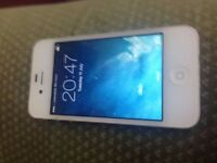 apple iphone 4 unlocked to all network 16GB white clean condition