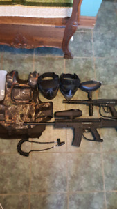Tippmann paintball markers and gear