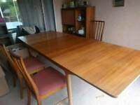 G Plan table and 6 chairs - Uxbridge