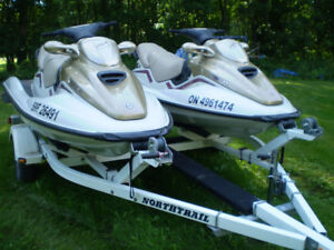 TWO 1999 3 Seater Sea Doos and trailer.