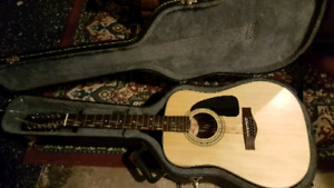 Fender 12 string acoustic with hard shell case