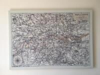 Old London Canvass Map