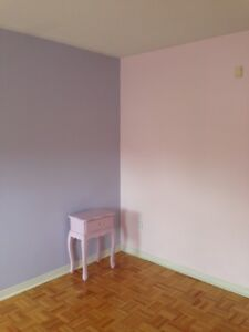 Benjamin Moore Light Pink & Purple, great for any girls bedroom!