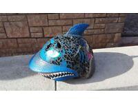 Boys Shark Attax Bike Helmet