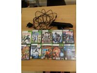 Xbox 360 kinect with 10 games
