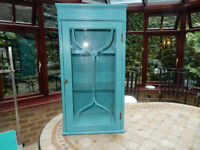 Solid Wood / Glass Display Cabinet Shabby Chic