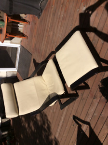IKEA -Poang leather arm chair