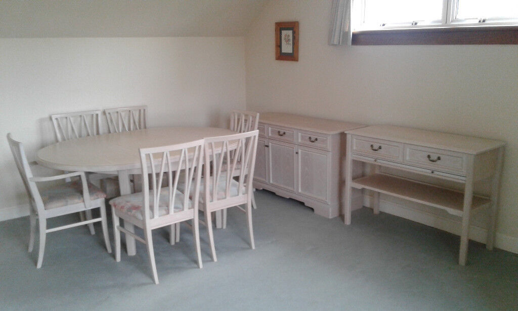 G Plan Dining Room Table, Chairs, Sideboard & Serving Table