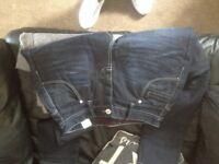 Dark denim police jeans 30 a short leg in excellent condition only worn twice