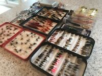 Mixed Box Mainly New Salmon and Trout Fishing Flies and Lures - over 200 in total