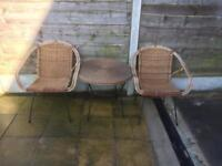 Garden table and chairs set bistro set solid Cast Iron
