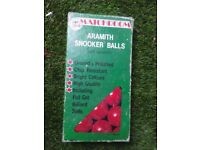 vintage collectible aramith snooker balls